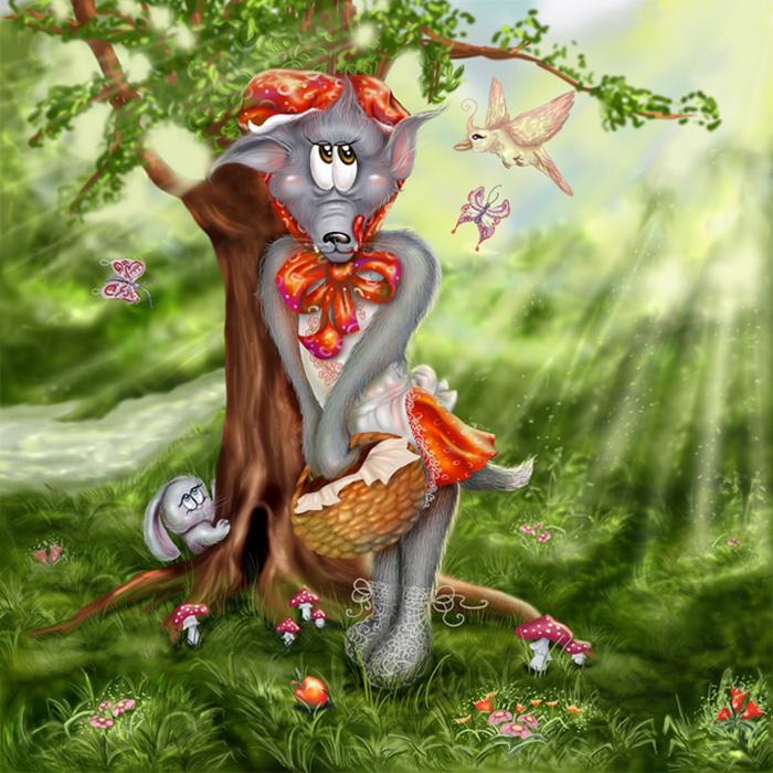 Днем, смешные картинки красная шапочка и волк